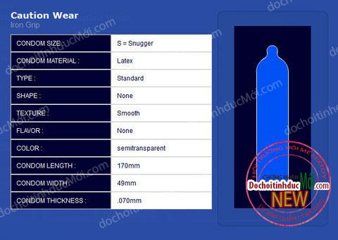 Bao Cao Su Size Nhỏ: Caution Wear Iron Grip