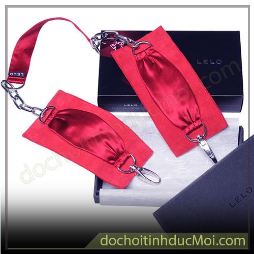 còng tay chân lelo sutra màu đỏ